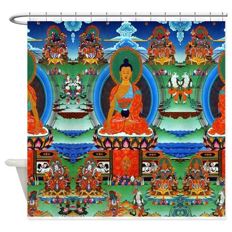 colorful buddha colorful buddha shower curtain by smilingbuddha