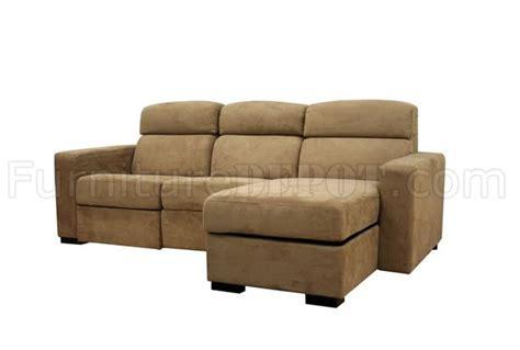 modern microfiber sectional tan microfiber modern reclining sectional sofa w storage