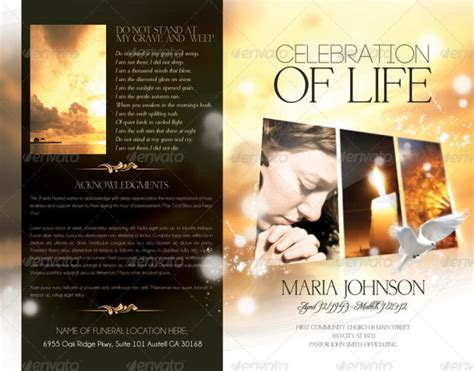 Pics For Gt Funeral Program Template Indesign Free Funeral Program Template Indesign