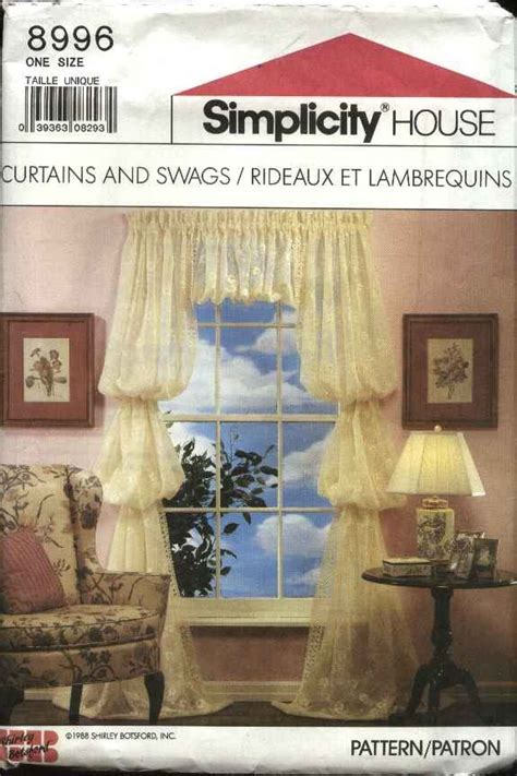 sewing cafe curtains instructions simplicity house sewing pattern 8996 caf 233 curtains swags