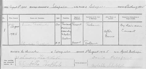 South Africa Marriage Records Africa Genealogy Records