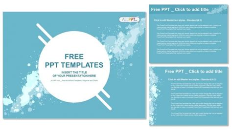 Abstract Splashes Powerpoint Templates How To Make Powerpoint Template