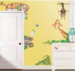 large jungle nursery decals for your baby room walls jungle monkey children s wall sticker set by oakdene