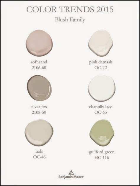 benjamin color trends 2015 blush family guilford green and blush home fashion