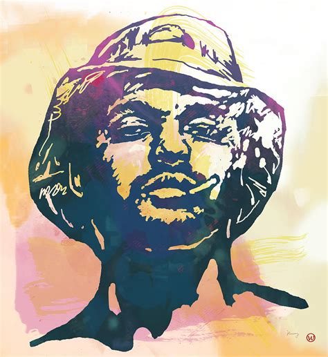 Schoolboy Q Drawing by Schoolboy Q Pop Stylised Poster Drawing By Wang
