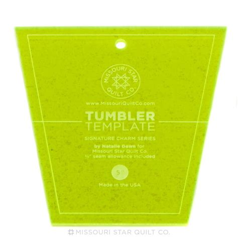 tumbler template small tumbler template for 5 quot charm packs msqc