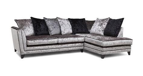 crushed velvet sofa dfs velvet corner sofa dfs www energywarden net