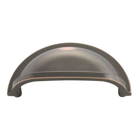 cabinet cup pulls oil rubbed bronze amerock solid brass 3 in oil rubbed bronze cup pull