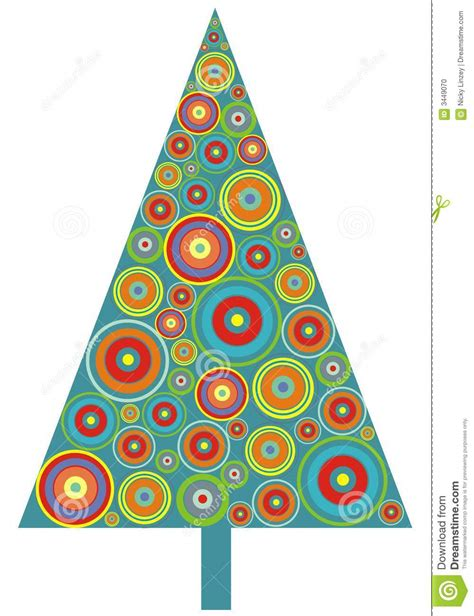 circle christmas tree stock photo image 3449070