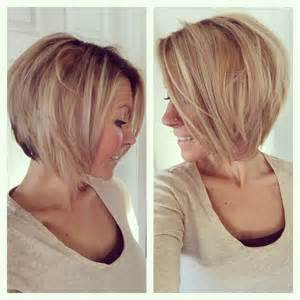how to angle hair around short medium angled bob haircut reverse bob blonde
