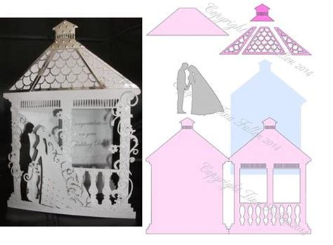 template new year tuxedo 3d card wedding gazebo card template no 2 cup543545 1929