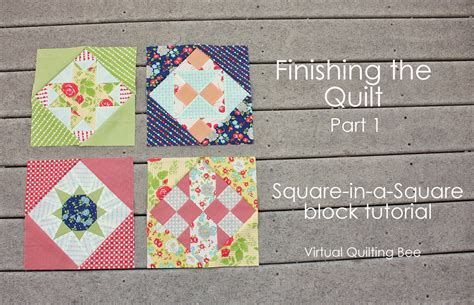 quilt pattern square in a square virtual quilting bee square in a square tutorial diary