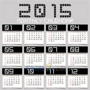 Black Calendar Template by 2015 Black And White Cool Calendar Vector Template