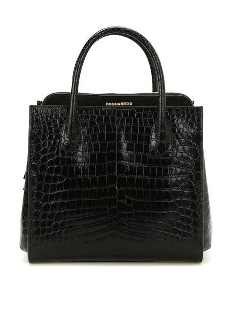 Croco Bag croco print leather handbag by dsquared2 totes bags ikrix