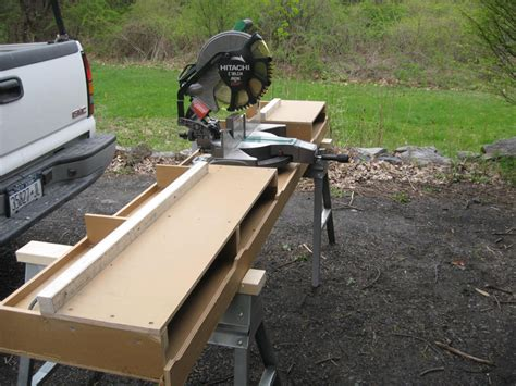 chop saw table height diy miter saw bench build a miter saw table gnh lumber diy