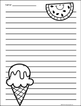 printable writing paper summer summer writing paper by first grade schoolhouse tpt