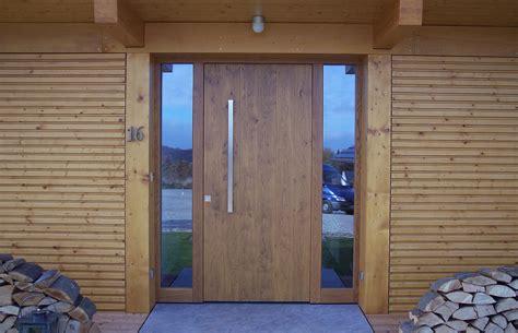 Modern Exterior Doors by Tischlerei Neumann Fenster Treppen Haust 252 Ren