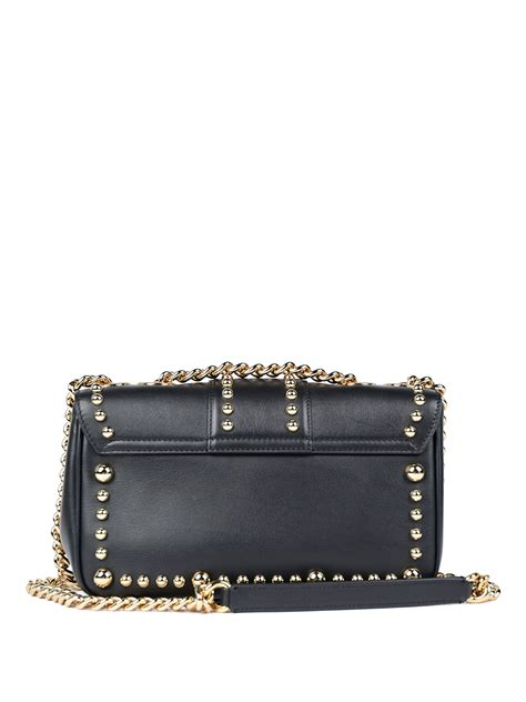 Dolce And Gabbana Leather Studded Handbag by Studded Leather Lucia Bag By Dolce Gabbana Cross