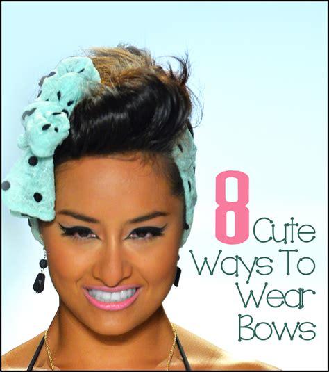 8 Ways To Wear Bows by 8 Ways To Wear A Bow Brick Glitter