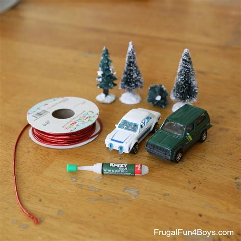hot wheels starting christmas tree bringing home the tree car ornament for to make