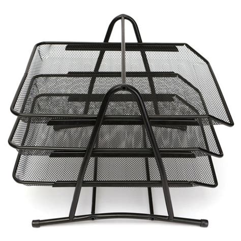 3 tier office barbed wire file tray mesh desk tray