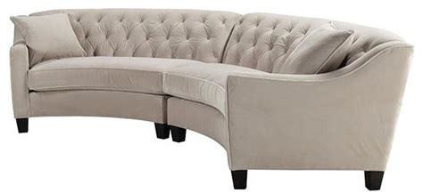 riemann tufted sectional riemann curved tufted sectional microsuede bella pearl