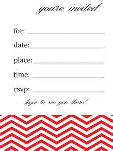 general blank chevron birthday or invitation by susieandme 4 00 invites