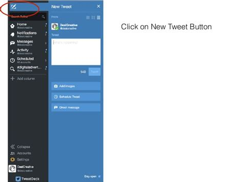 how to schedule a simple tweet using tweetdeck