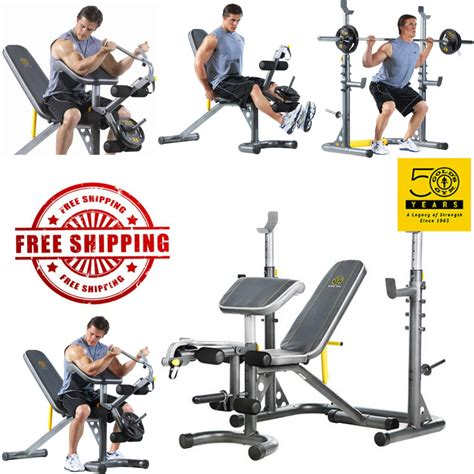 golds gym bench and squat rack golds gym xrs 20 olympic workout bench and rack 2in1 squat