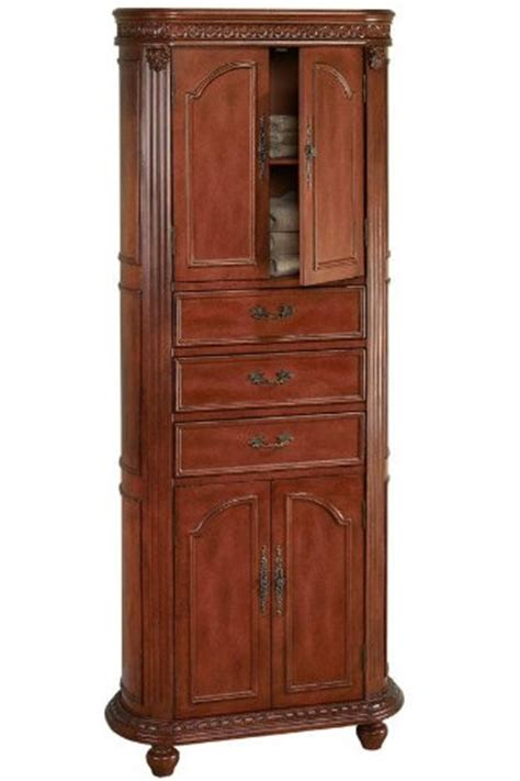 Cherry Bathroom Storage Cabinet Home Depot Bathroom Cabinets Kendall Linen Storage Cabinet 67 5 Quot Hx28 Quot W Antique Cherry By Home