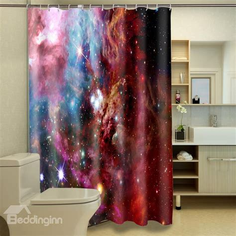 3d Shower Curtains by Starry Sky Pattern 100 Polyester 3d Shower