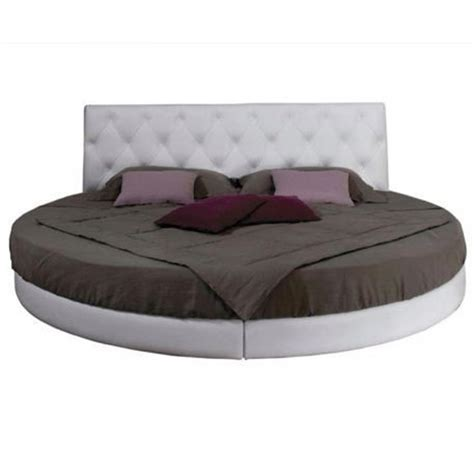 circle beds hf4you 6ft 7ft round bed in grey black brown or cream
