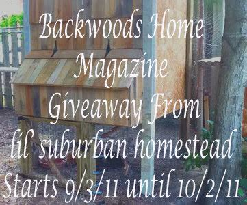 backwoods challenge giveaway subscription to backwoods home magazine lil