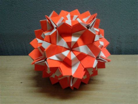M Origami - origami kamillen kusudama by origamimalaysia on deviantart
