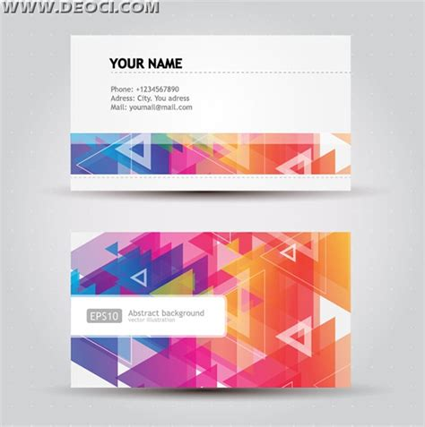 material design business card template free polygon abstract color business card design template
