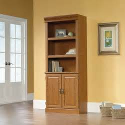 Bookshelves With Doors Sauder Orchard Library Bookcase With Doors Carolina
