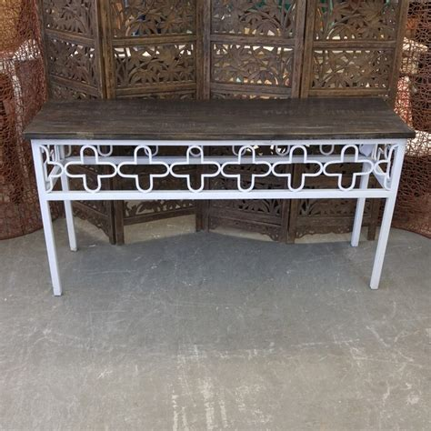 iron and wood console table iron and wood console table nadeau