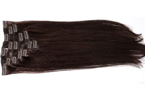 Hairclip 40 Cm Lurus clip in echthaar extensions 40cm haarverl 228 ngerung 7 tressen set ebay