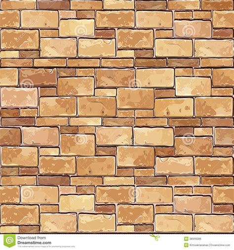 stone wall pattern illustrator stone brick wall seamless background stock vector image