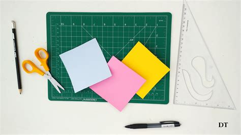 Fold Paper Into Cube - how to make origami cube easy step by step method