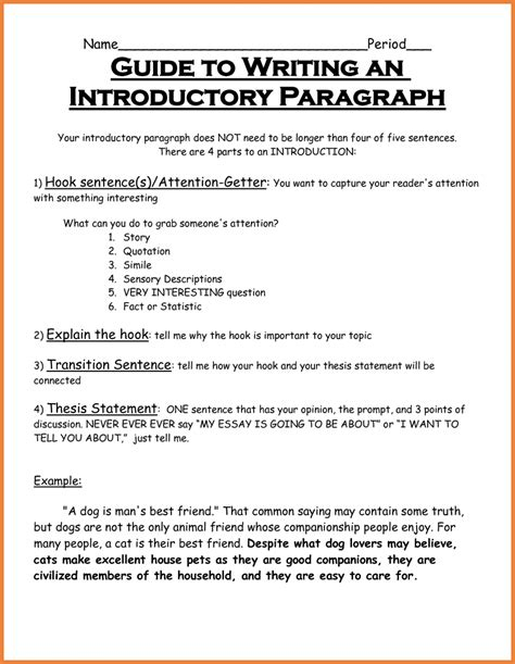 Introductory Paragraph Of An Essay by Intro Paragraph Exles Sop