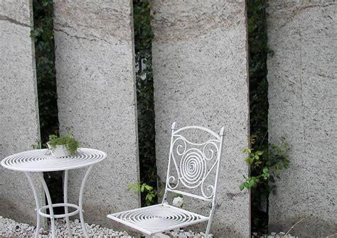 granitplatten garten sichtschutzwand an der terrasse transparent gestaltet