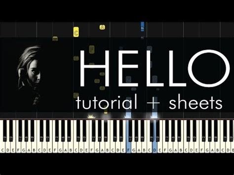 hello keyboard tutorial adele hello piano tutorial how to play adele youtube