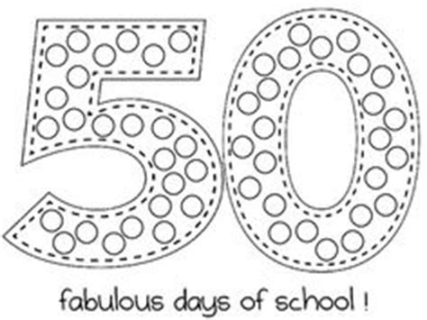 50th Day Of School Printables