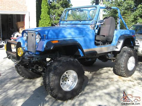 amc jeep cj7 1977 custom amc jeep cj7 with v8 36 quot tires