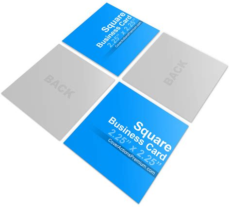 4 side free psd business card templates actions square business card mock ups cover actions premium