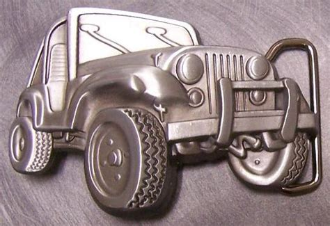Jeep Belt Buckle Pewter Belt Buckle Vehicle Classic Jeep New Ebay