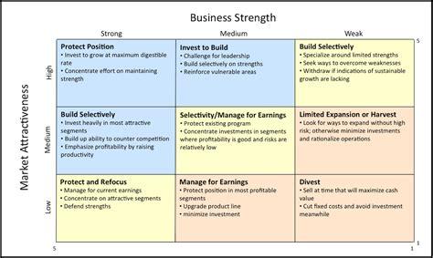 Strategic Product Management Product Strategy Tools Ge Mckinsey Portfolio Matrix Mckinsey Matrix Template
