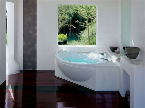 Bathtub Designs White Fiberglass Corner Bathtub Design Ideas For Bathroom With In Futuristic Kitchen Design