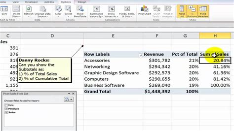 Change Pivot Table How To Show Values As Percentages Of In Excel Pivot Tables